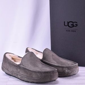 Men's UGG Ascot Charcoal Grey Moccasin Slippers